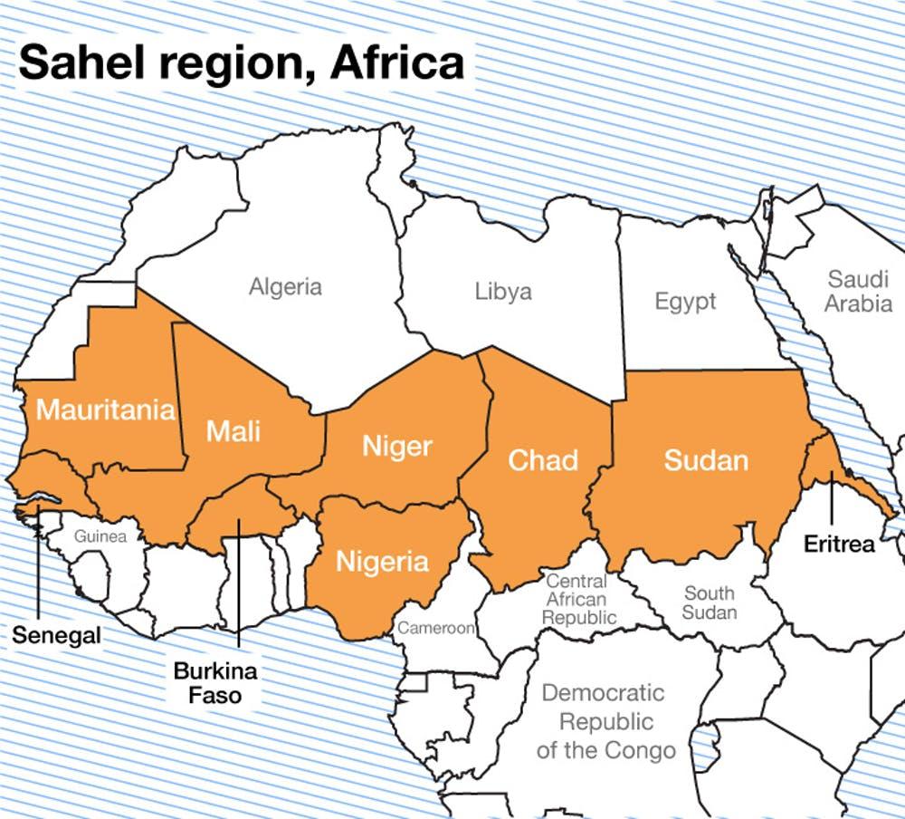 Sahel Region Map